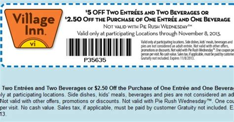 inn coupons pinned october 18th 5 bucks a meals at