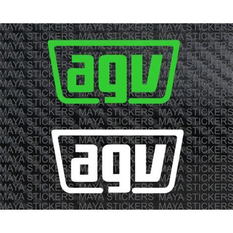 Sticker Helm Agv by Agv Logo Simple Sticker