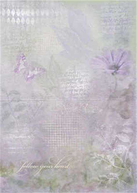 Backing Papers For Card - lilac floral and script paper