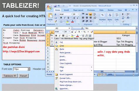 membuat ukuran tabel html cara mudah membuat tabel di blog tanpa html tips seo