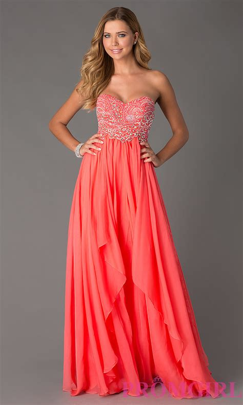strapless evening gown sherri hill strapless prom dress