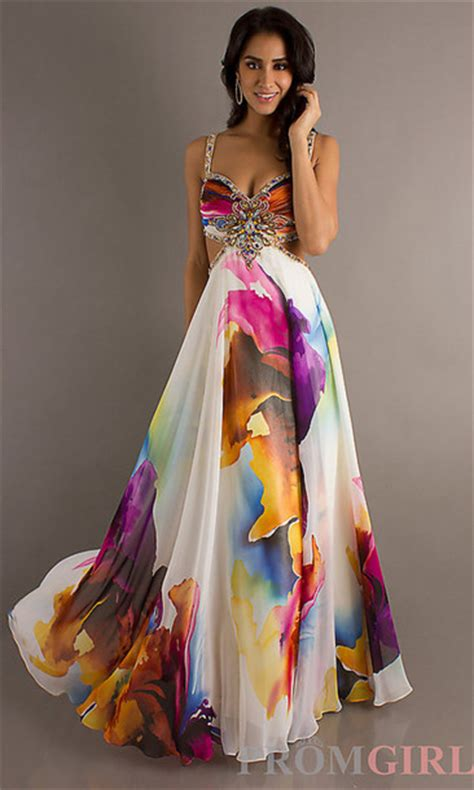 colorful dresses dress formal colorful pattern prom dress