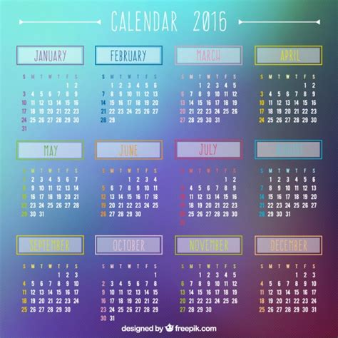 calendar template ai 2 2016 calendar on gradient background vector premium