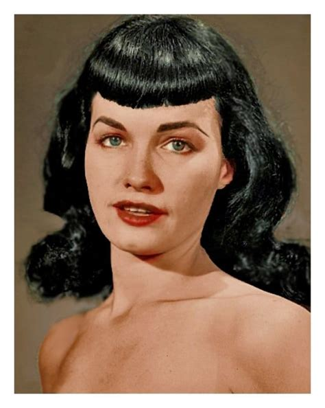 Bettie Page Hairstyle by Picture Of Bettie Page