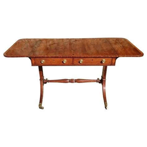 19th Century Regency Rosewood Antique Sofa Table For Sale Antique Sofa Table For Sale