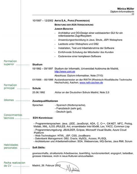 Plantillas De Curriculum Vitae En Aleman Curr 237 Culum En Alem 225 N Consejos Que Debes Tener En Cuenta Infoidiomas