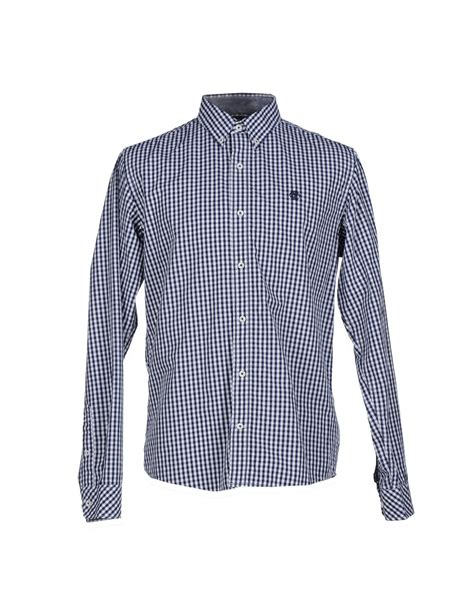 timberland shirt in blue for lyst