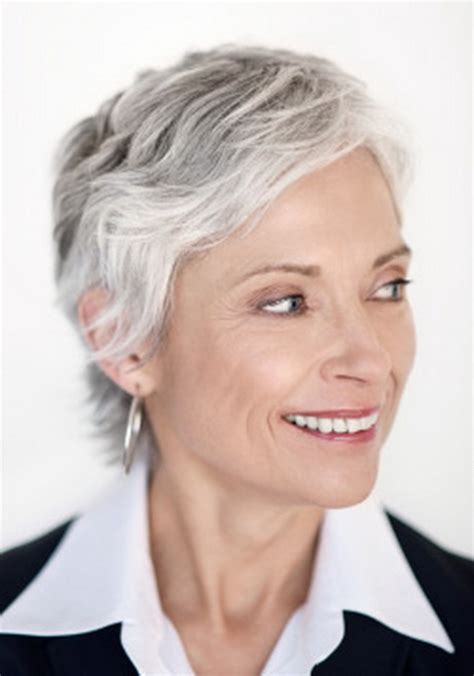 short hair styles for women over 50 gray hair short hairstyle for women over 50