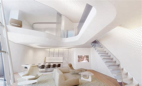Interactive Room Design zaha hadid designs interiors for dubai s opus office tower