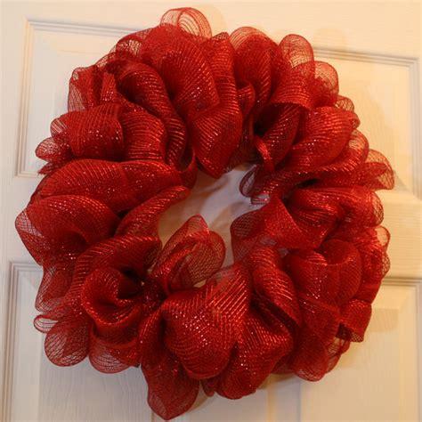 mesh ribbon wreath chica  jo
