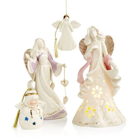 home interior angel figurines lenox christmas angel collection liked on polyvore