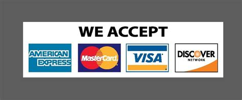 we accept cards sticker template we accept credit visa mastercard amex discover sticker