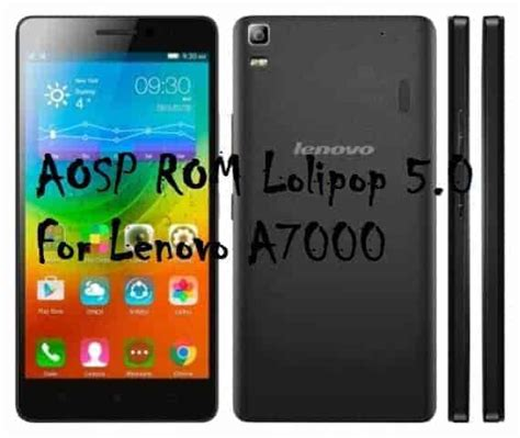 Update Lenovo A7000 Special Edition aosp custom rom lolipop 5 0 for lenovo a7000