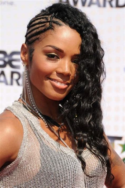 one sided black hairstyles one side braids hairstyle for black girls voguemagz voguemagz