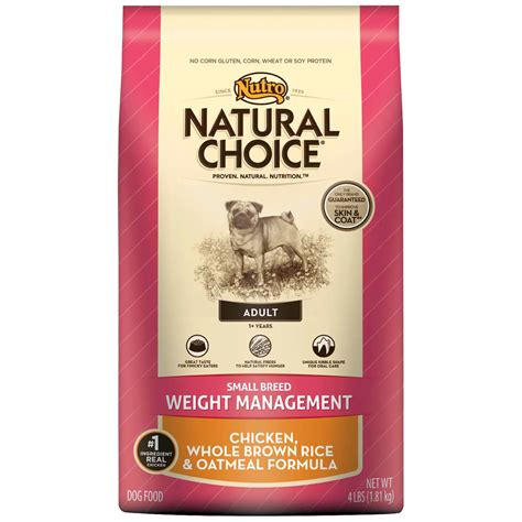 nutro choice food nutro choice small breed weight management chicken whole brown rice oatmeal