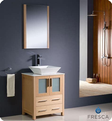 """Fresca Torino 24"""" Light Oak Modern Bathroom Vanity Vessel"""