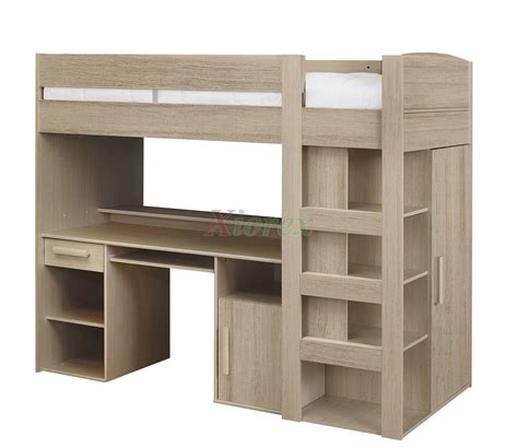 Loft Bed With Closet And Desk by Gami Montana Loft Beds With Desk Closet Storage