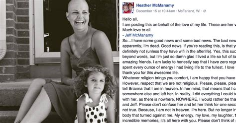 Cancer Patient Goodbye Letter husband shares his late s goodbye letter after she