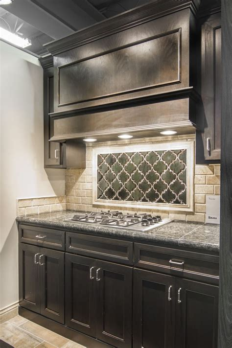 ceramic subway tiles for kitchen backsplash artisan arabesque ceramic tile focal point with sandlewood travertine subway backsplash
