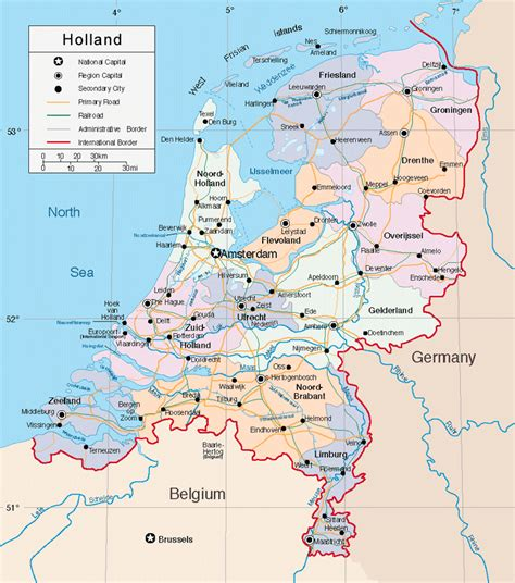map  holland netherlands map amsterdam holland map