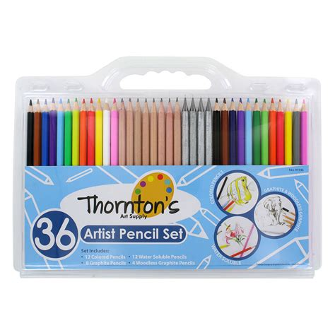 artist quality colored pencils thornton s supply 36 count professional hi quality