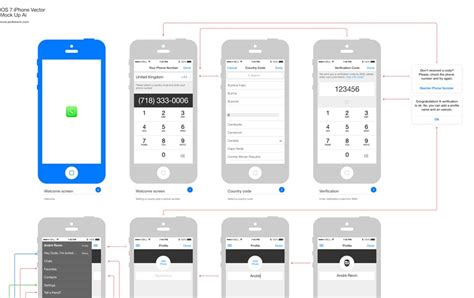 ios wireframe template 25 outline mockups for wireframing presentation