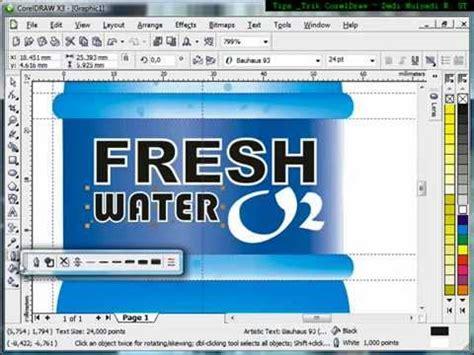 tutorial desain kemasan produk dengan coreldraw desain botol air kemasan tutorial coreldraw belajar