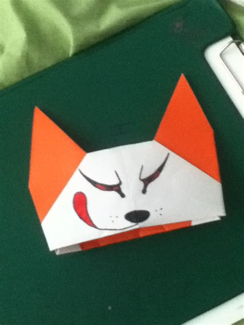 Fox Puppet Origami - onibi kitsune origami puppet by darquesse12 on deviantart