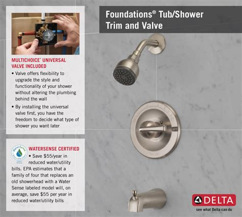 Delta Tub And Shower Faucet Installation by Delta Foundations Single Handle 1 Spray Tub And Shower