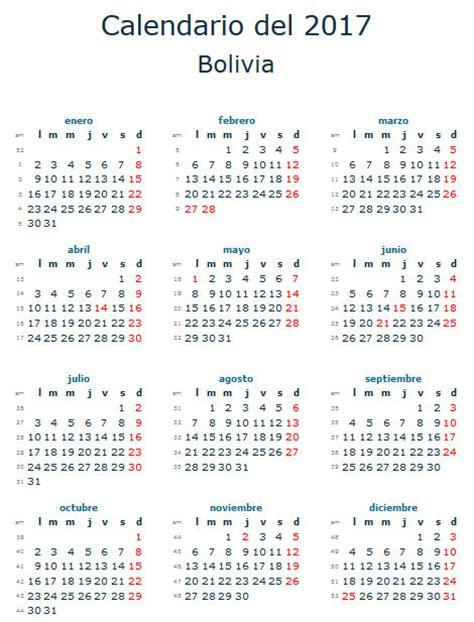 Bolivia Calend 2018 Bolivia Calendrier 2018 28 Images Calendar 2017