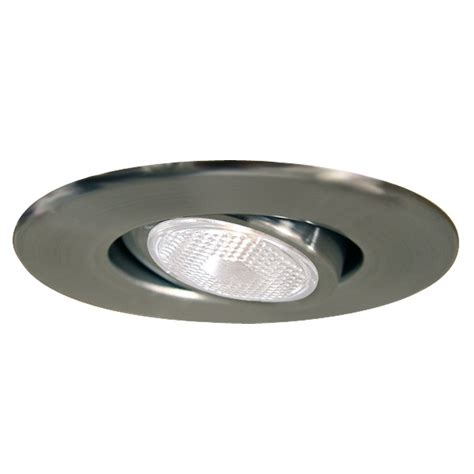 Recess Light by Halo 4 In Satin Chrome Gimbal Recessed Lighting Trim