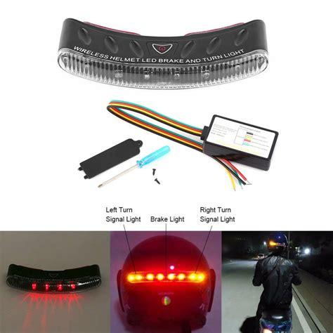 motosiklet atv kablosuz kask fren sinyal  led emniyet