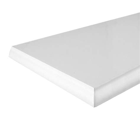 home depot decorative shelves knape vogt 10 in x 24 in white classic edge decorative
