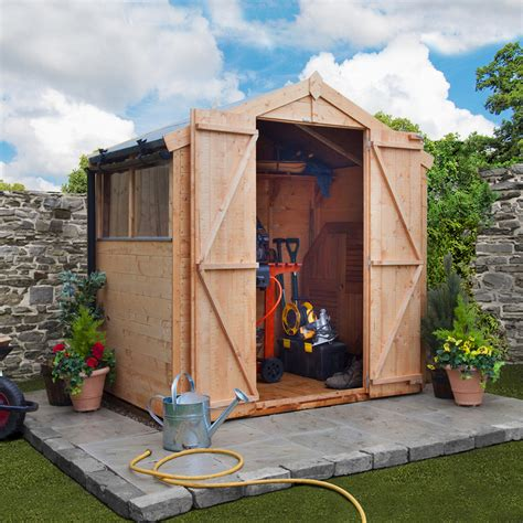 Plastic Garden Sheds 6 X 4 by Billyoh 4 X 6 Windowed Tongue And Groove Apex Garden Shed