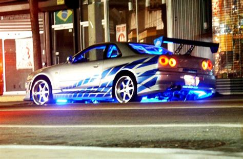 nissan skyline fast and furious paul walker brian o conner s nissan skyline r34 gt r 2 fast 2