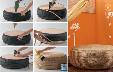 rope tire ottoman moroccan pouf footstool ottoman pouffe red mediterranean