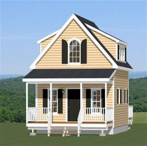 16x20 Tiny House 574 Sq Ft Pdf Floor Plan Lexington Tiny House Plans 16x20