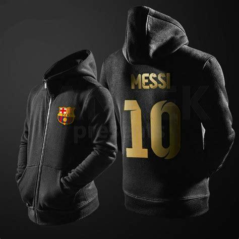 Hoodie Lionel Messi Barcelona 1 fc barcelona lionel messi suit jacket 10 logo zipper hoodies