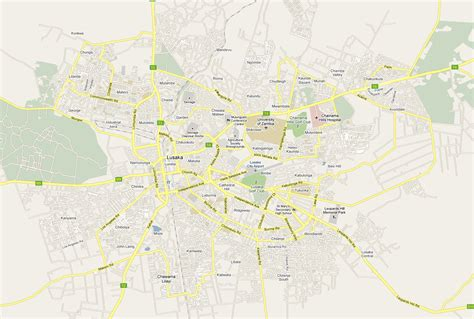 map of lusaka city map scale