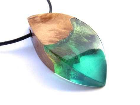Resin Wood Necklace Epoxy Resin Wood Resin Jewelry Resin
