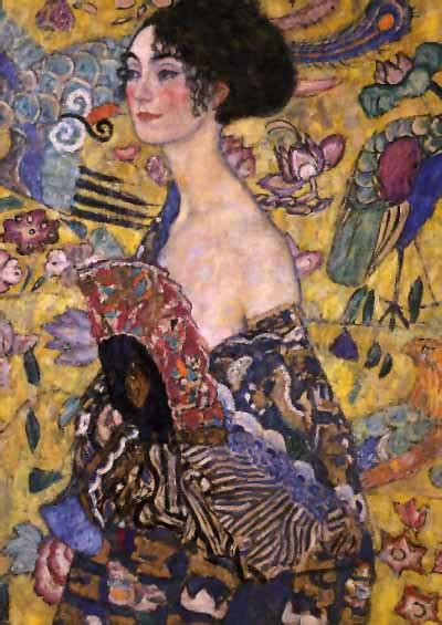 gustav klimt lady with gustav klimt lady with fan art for the days