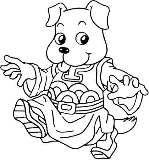 coloring pages year of the dog surrey coloring pages