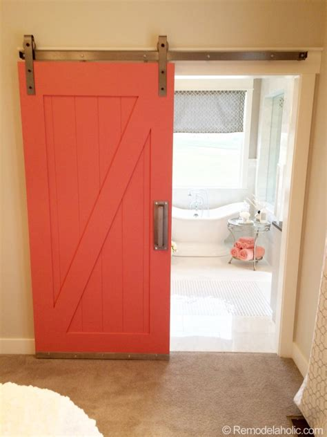 Barn Door Ideas For Bathroom Barn Door To Bathroom In Master Bedroom I D Paint It Pale Coral And Mount A Framed Mirror