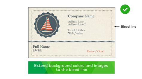 vistaprint bleed business card template vistaprint business cards bleed choice image card design
