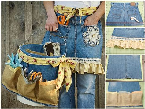 Tas Boxy Ribbon creative ideas diy repurpose into garden apron