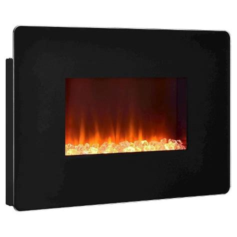 kenna small wall mounted electric fireplace black