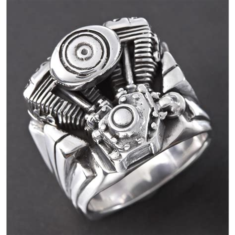 s wildthings engine sterling silver ring