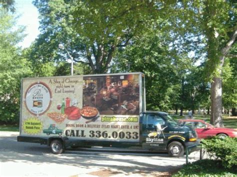 pizza house east lansing mi skyline outdoor advertising mobile billboards signs and banners