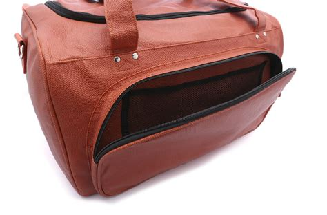 basketball bag with shoe compartment sport size duffel bag actual basketball leather