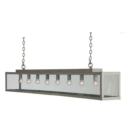 Long Bar Suspension Ceiling Pendant Light In Painted Grey Suspended Kitchen Lighting
